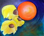 Kunstbild: Hymne an die Sonne, Oel auf Leinwand