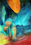 Kunstbild: Magische Kraft, Oel auf Leinwand