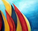Kunstbild: Algarve-Wind, Oel auf Leinwand