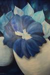 Kunstbild: Fantasie in Blau, Oel auf Leinwand
