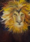 Kunstbild: König der Löwen, Oel auf Leinwand