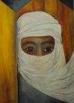 Kunstbild: Die Araberin, Oel auf Leinwand