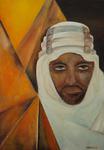 Kunstbild: Der Araber, Oel auf Leinwand
