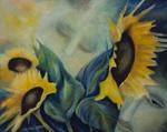 Kunstbild: Sehnsucht, Oel auf Leinwand