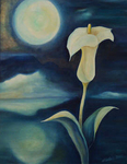 Kunstbild: Mondschein-Serenade, Oel auf Leinwand
