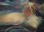 Kunstbild: Der Blitz, Oel auf Leinwand