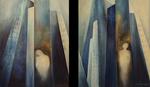 Kunstbild: Melancholie Oel, auf Leinwand